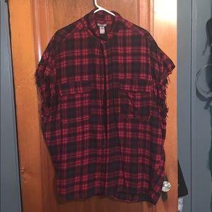 Flannel tank top